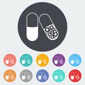 Pills icon. — Stock Vector