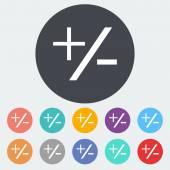 Plus minus icon. — Stock Vector