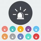 Police single icon. — Stock Vector