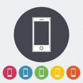 Icône unique smartphone. — Vecteur