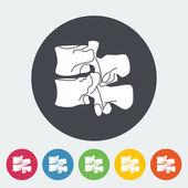 Anatomy spine icon. — Stock Vector