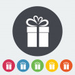Christmas illustration with gift box. — Wektor stockowy  #54447665