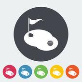 1 つのアイコンをゴルフ. — ストックベクタ