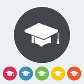 Education flat icon. — Stock Vector