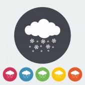 Snowfall single icon. — Stock Vector