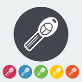 Ignition key single icon. Vector illustration. — Stock Vector