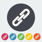 Link single icon. — Stock Vector