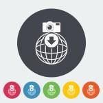 Photo download single icon. — Stock Vector #54485227