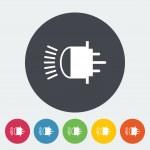 Xenon car lamp flat icon — Stock Vector #55026167