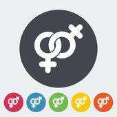Lesbian sign — Stock Vector