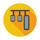 Pedal car single icon. — Stock Vector