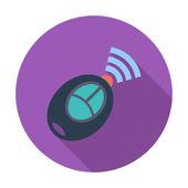 Remote control flat icon — Stock Vector