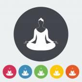 Yoga flat icon. — Stock Vector