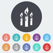 Icono solo velas. — Vector de stock