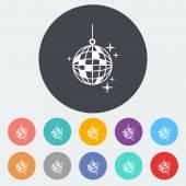 Bola de discoteca — Vector de stock