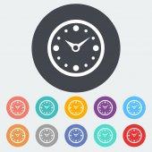 Clock flat icon. — Stock Vector