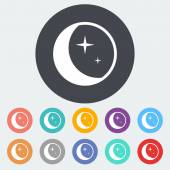 Měsíc ikona. — Stock vektor