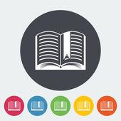 Bok. enda platt ikon. — Stockvektor