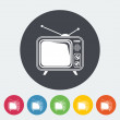 TV single icon. — Stock Vector #56179751