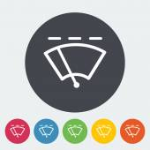 Car flat icon wiper. — Stock Vector