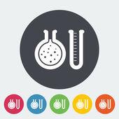 Chemie-flach-symbol — Stockvektor