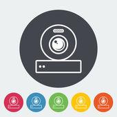 Web cam icon. — Stock Vector