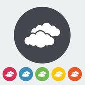 Overcast single flat icon. — Stock Vector