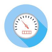 Hastighetsmätare flat ikonen. — Stockvektor