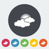 Cloudiness single flat icon. — Stock Vector