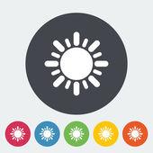 ícone plana de sol — Vetorial Stock