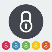 Lock single icon. — Stock Vector