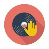 Main de pentecôte pour le disque vinyle. — Vecteur