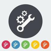Setting single icon. — Stock Vector