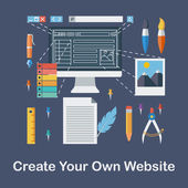 Create your own website — Stock Vector