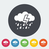 Storm icon — Stock Vector
