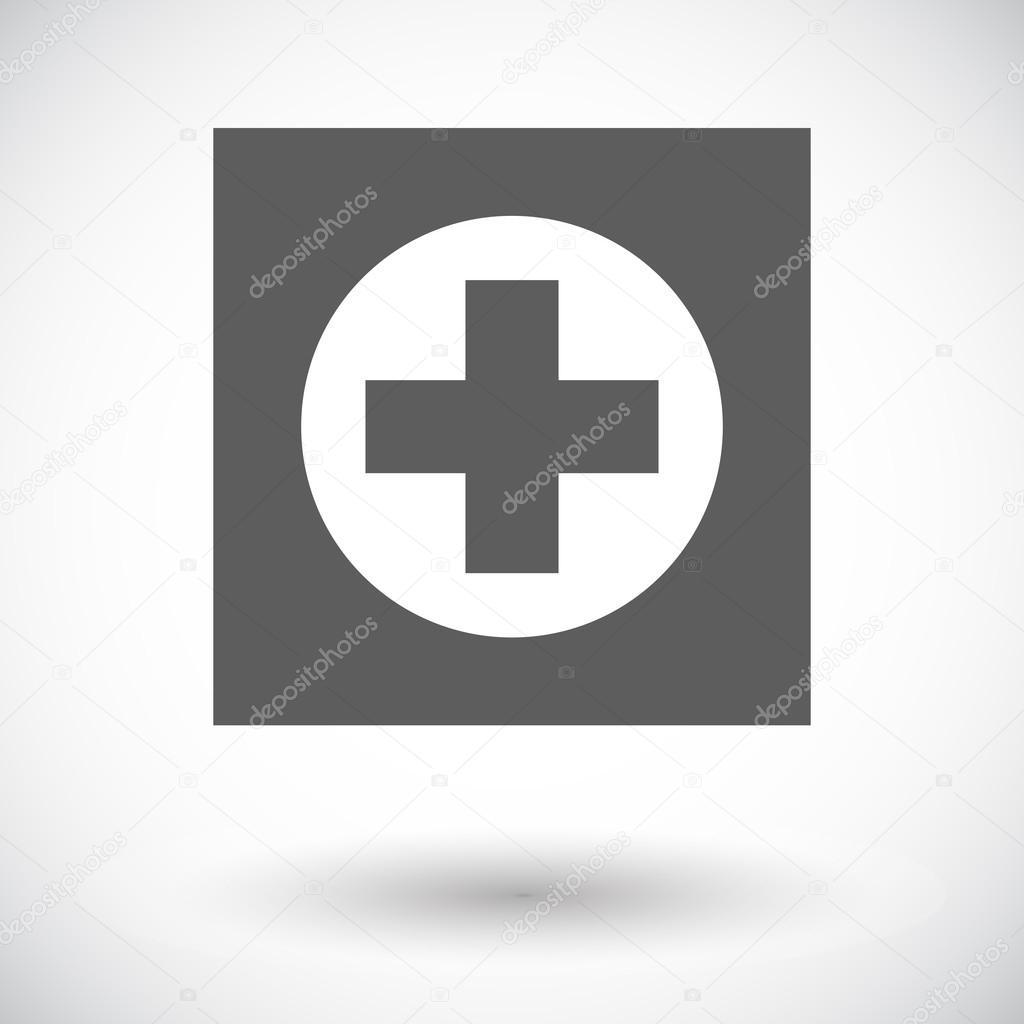 医院.白色背景上的单个平面图标.矢量图— vector by leshkasmok