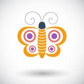 Jedną ikonę motyl. — Wektor stockowy