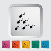 Sperm icon — Stock Vector