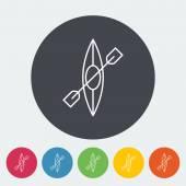 Canoe icon — Stock Vector