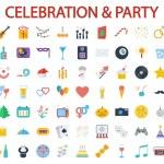 Party icons — ストックベクタ #80284222