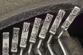 Tipos de máquina de escribir — Foto de Stock