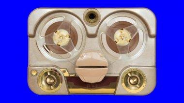 Old Tube Tape Recorder Loop — 图库视频影像