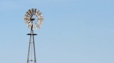 Rotating Windmill Close Up — Stock Video