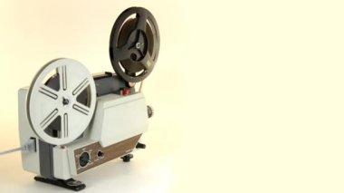 Antique Super 8 Projector — Stock Video