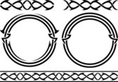 Set of patterns and rings — Vector de stock