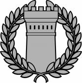 Ancient tower with laurel wreath — Stockvektor