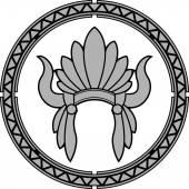 Américain coiffe indienne indigène — Vecteur
