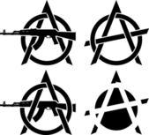 Symbols of anarchy — Stock Vector