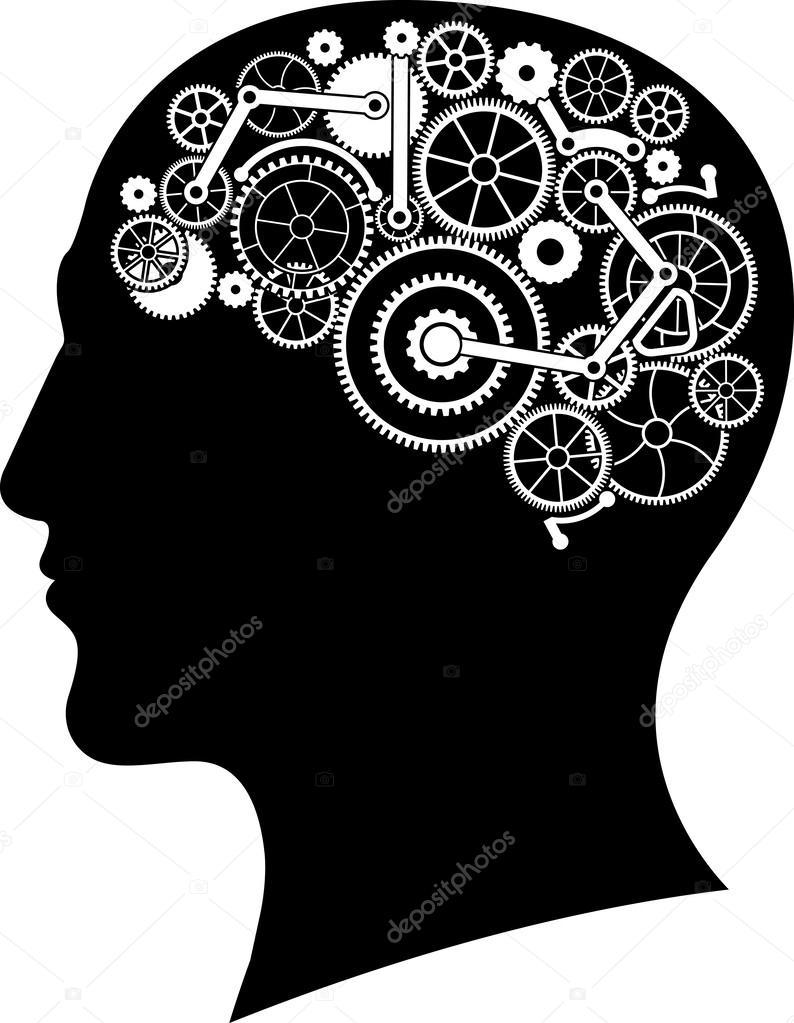 Head With Gear Brain Stock Vector Santi0103 59737595