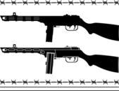 Soviet machine gun — Vector de stock